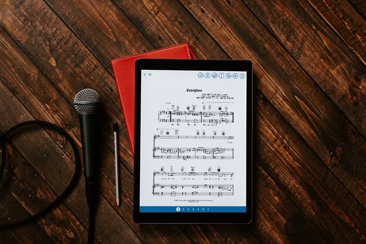 Musicnotes app on iPad